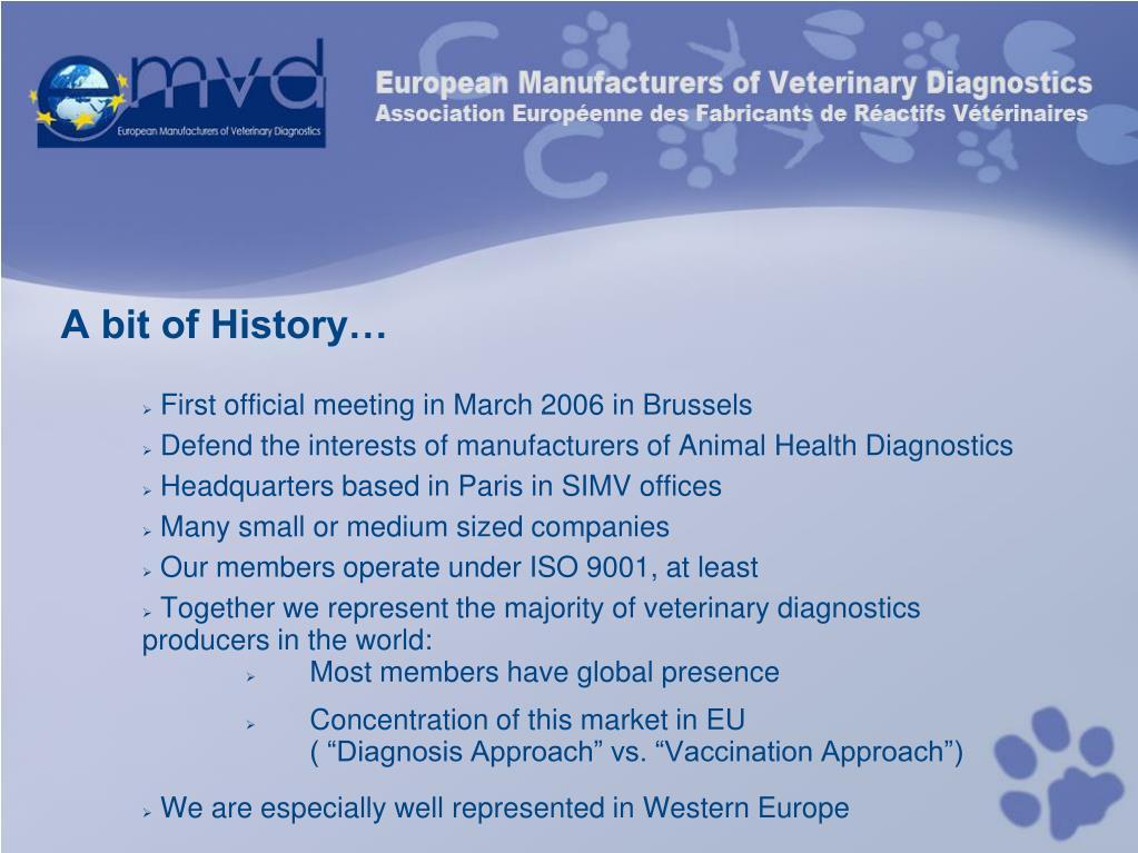 PPT - General Presentation - EMVD European Manufacturers of