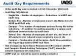 audit day requirements