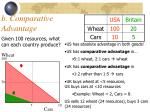 b comparative advantage