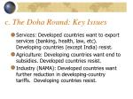 c the doha round key issues