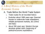 i a brief history of the world economic system