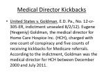 medical director kickbacks