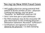 tee ing up new hha fraud cases