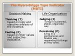 the myers briggs type indicator mbti13