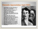 thematic appreciation test tat