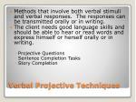 verbal projective techniques