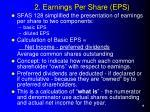 2 earnings per share eps