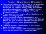 format discontinued operations