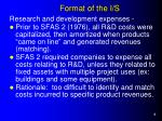format of the i s