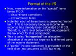 format of the i s2