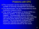 problems with eps