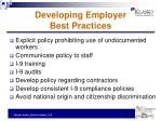 developing employer best practices
