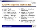 ice investigative techniques