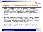 impact of state and local laws