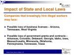 impact of state and local laws1