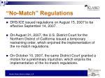 no match regulations