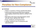 penalties for non compliance1