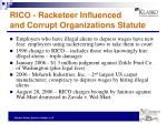 rico racketeer influenced and corrupt organizations statute