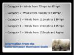 information from the saffir simpson hurricane scale