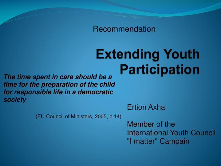 extending youth participation n.