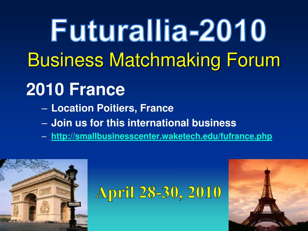 Business matchmaking France rencontres raquettes