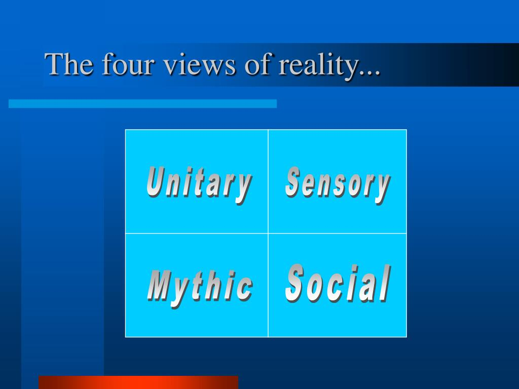 The four views of reality...