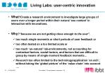 living labs user centric innovation