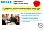 transnational tt training programme