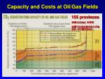 capacity and costs at oil gas fields