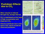 pushdown effects due to co 2