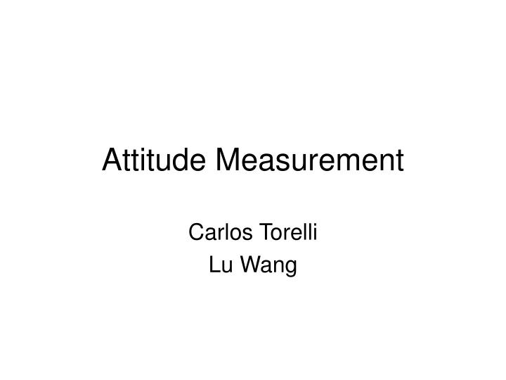 attitude measurement n.