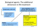 biological agents the additional dimension in ra treatment