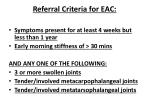 referral criteria for eac