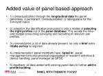 added value of panel based approach