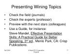 presenting wining topics