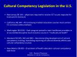 cultural competency legislation in the u s