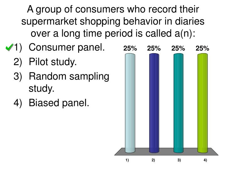 A group of consumers who record their supermarket shopping behavior in diaries over a long time period is called a(n):