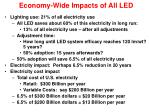 economy wide impacts of all led