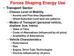 forces shaping energy use