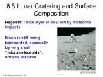 8 5 lunar cratering and surface composition4