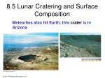 8 5 lunar cratering and surface composition5
