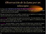 observaci n de la luna por un telescopio