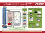 unified analytics via an edw