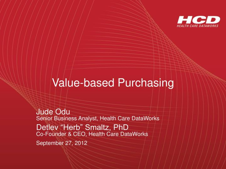 value based purchasing n.