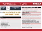 vbp measures fy 2013