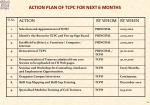 action plan of tcpc for next 6 months