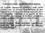 cultura di massa e modernizzazione italiana1