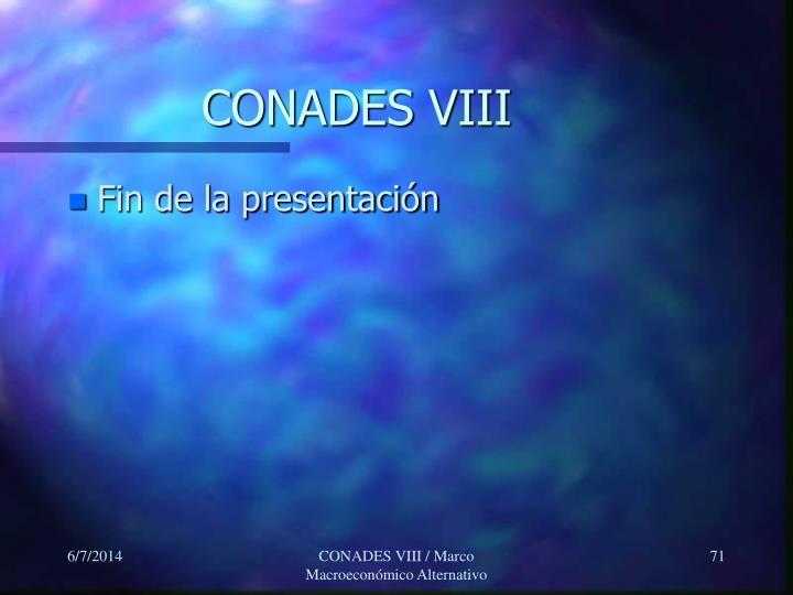 CONADES VIII