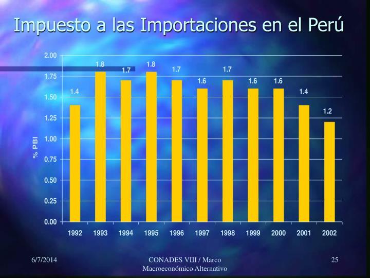 Impuesto a las Importaciones en el Perú