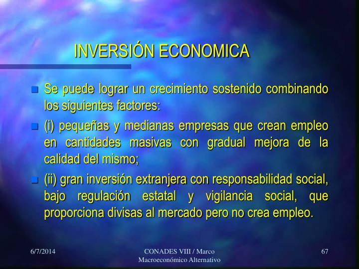 INVERSIÓN ECONOMICA